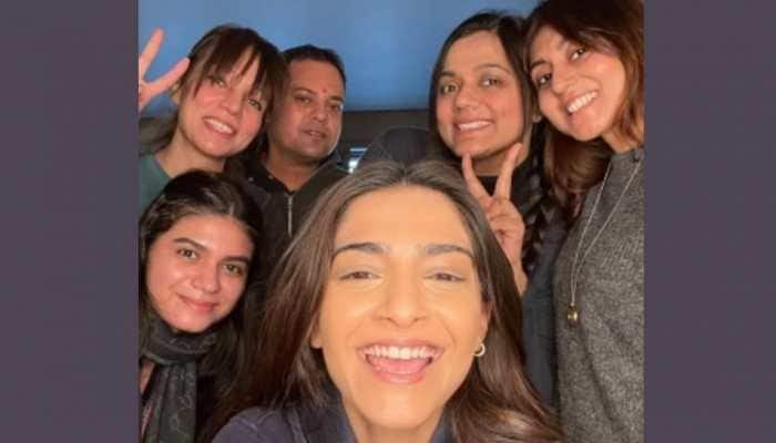 Sonam Kapoor shares picture with team from sets of 'Blind'