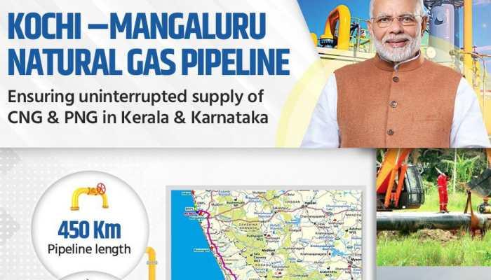 PM Narendra Modi to inaugurate Kochi-Mangaluru natural gas pipeline today