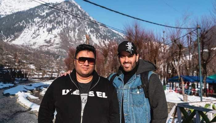 Luv Sinha and producer Nicky Bhagnani in Kashmir for shoot location recce