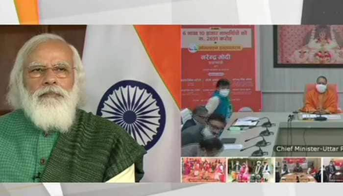PM Narendra Modi releases financial assistance to over 6 lakh beneficiaries in UP under PMAY-G