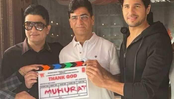 Sidharth Malhotra, Ajay Devgn, Rakul Preet Singh starrer 'Thank God' goes on floor
