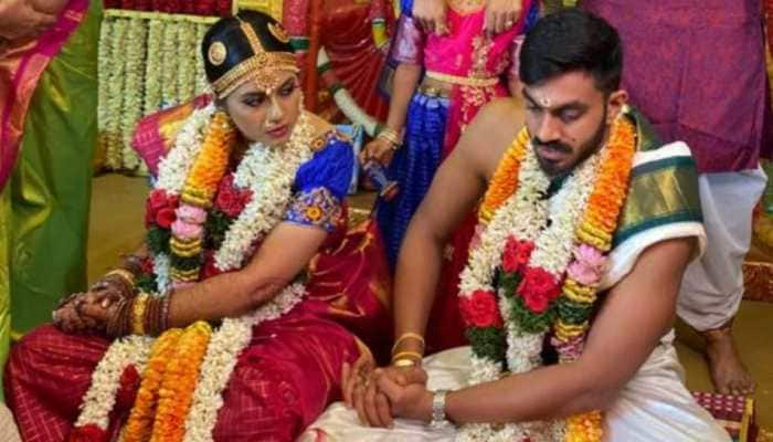 India all-rounder Vijay Shankar marries Vaishali Visweswaran, Sunrisers Hyderabad send wishes