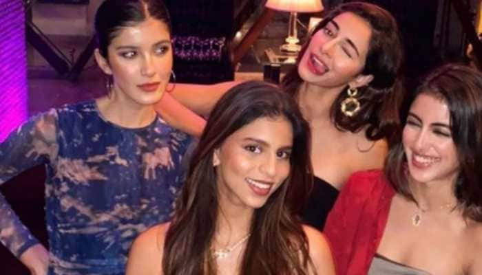 Suhana Khan, Ananya Panday, Navya Naveli Nanda and Shanaya Kapoor go glam for party, viral pics hit internet!