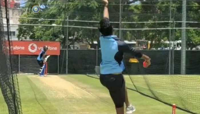 Jasprit Bumrah emulates Anil Kumble's bowling action during nets; former spinner reacts
