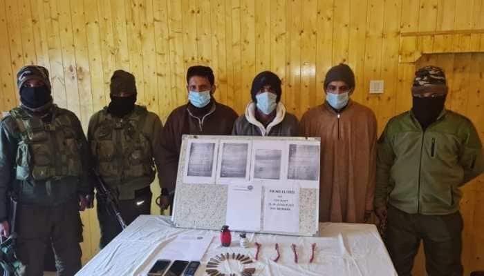 3 LeT terrorist associates arrested in J&K's Budgam; 2 hand grenades, four detonators recovered