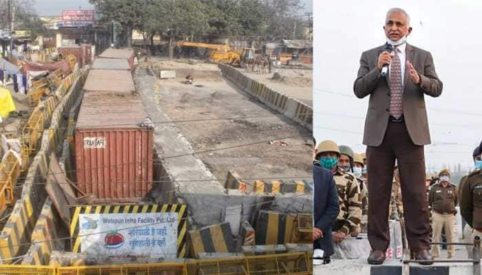 Farmers' protests: Strengthened barricades so that they cannot be broken again, says Delhi Police chief SN Shrivastava