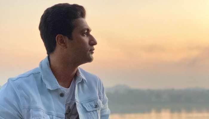 Vicky Kaushal admires sunset on banks of river Narmada