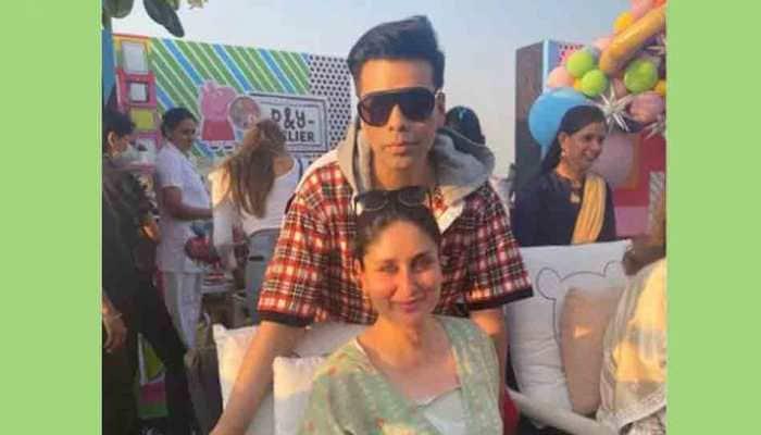 Kareena Kapoor makes glowing mommy-to-be in comfy green kaftan at Karan Johar's twins' birthday bash, see pics