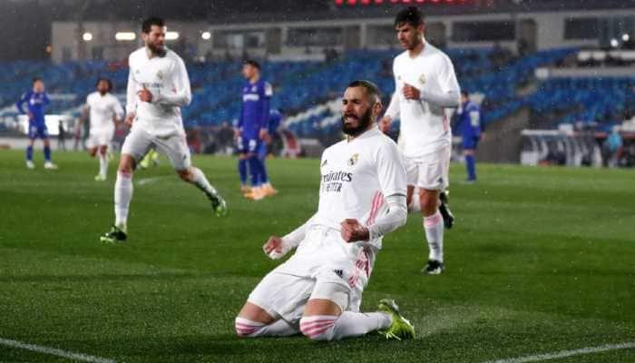 La Liga football: Karim Benzema lifts depleted Real Madrid past Getafe