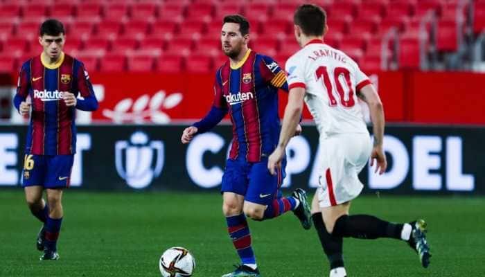 Copa del Rey: Sevilla beat Barcelona in Lionel Messi's 900th game