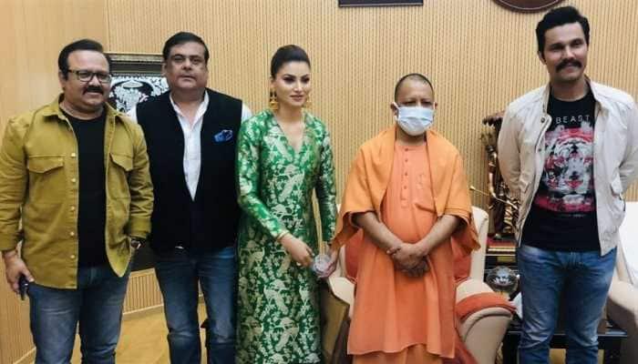 Urvashi Rautela, Randeep Hooda meet Uttar Pradesh CM Yogi Adityanath