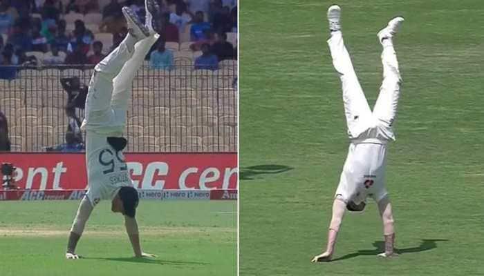 IND vs ENG: Ben Stokes performs handstand, leaves Chepauk in delight