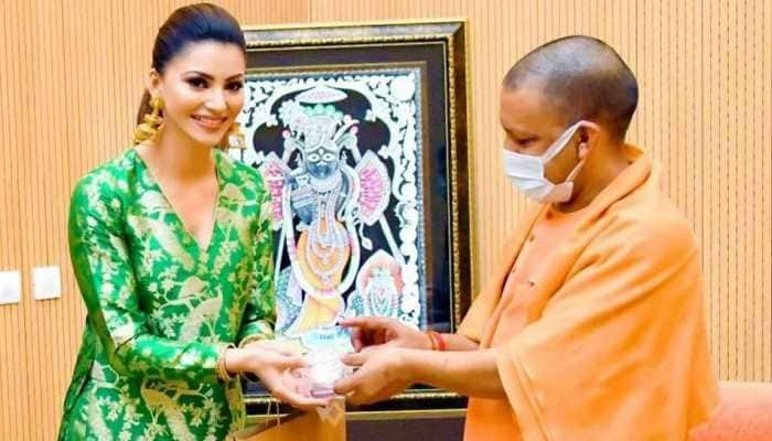 Urvashi Rautela meets Uttar Pradesh Chief Minister Yogi Adityanath during Inspector Avinash shoot in Lucknow- In Pics