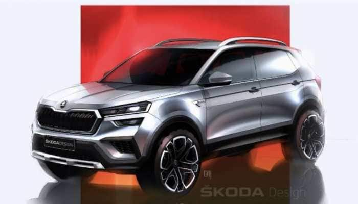 Skoda Kushaq sketches out ahead of its official unveiling, the SUV gets rugged looks