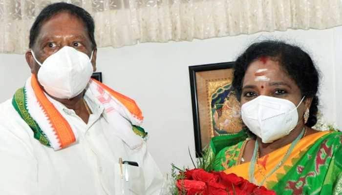 Puducherry Lt Governor Tamilisai Soundararjan asks CM Narayanasamy to prove majority on February 22