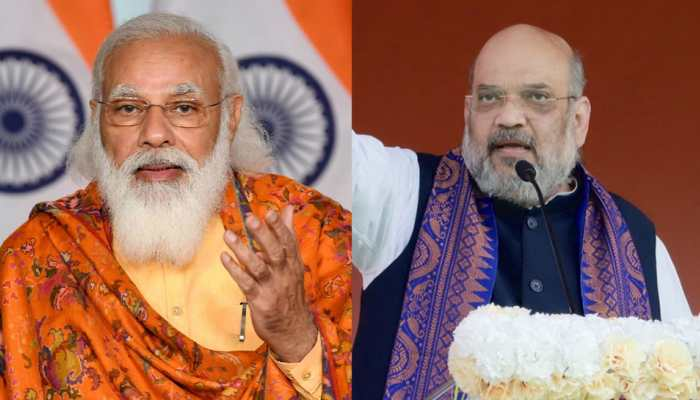 PM Narendra Modi calls 'today's win across Gujarat very special', Amit Shah terms it 'landslide victory'