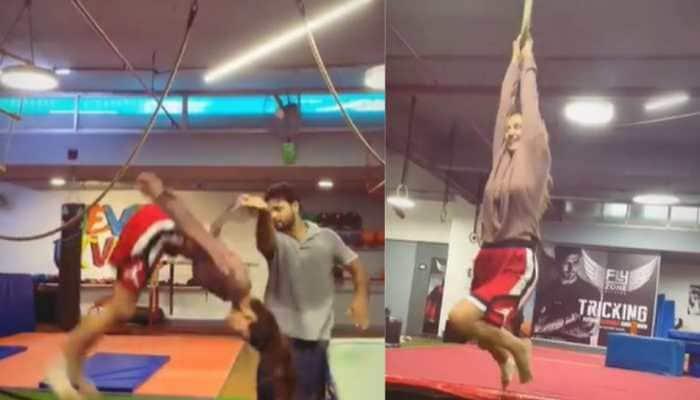 Disha Patani's jaw-dropping backflip leaves rumoured boyfriend Tiger Shroff impressed- Watch