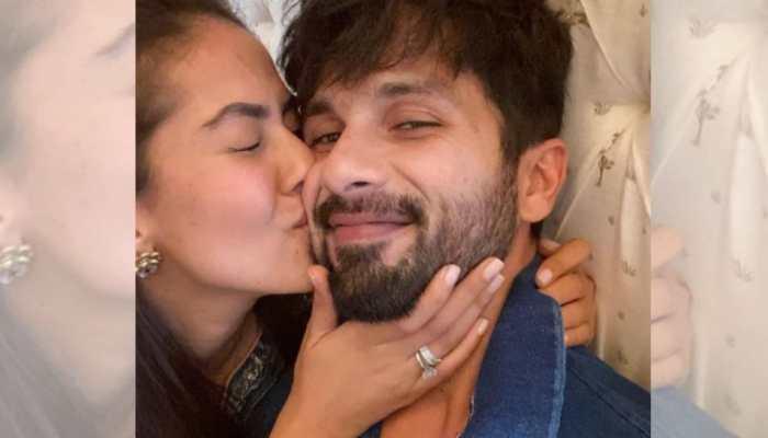 Mira Rajput's kiss for husband Shahid Kapoor has the internet fawning!