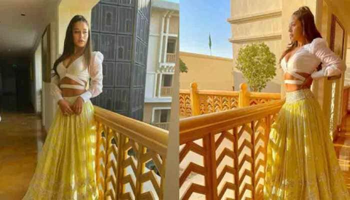 Krishna Shroff flashes toned midriff in yellow lehenga at friend's wedding, mesmerises fans