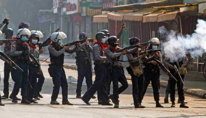 At least two dead after Myanmar police crack down on protests for second day