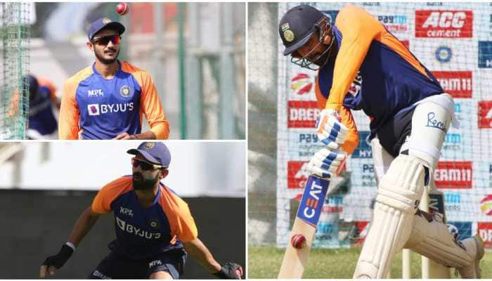 IND vs ENG: Team India sweat it out at nets on hot summer day in Ahmedabad