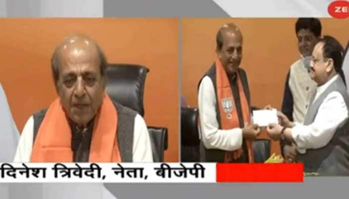 Former TMC MP Dinesh Trivedi joins BJP ahead of West Bengal assembly polls