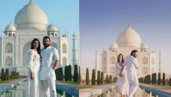 Inside Allu Arjun's romantic getaway to Taj Mahal with wife Sneha Reddy on 10th wedding anniversary