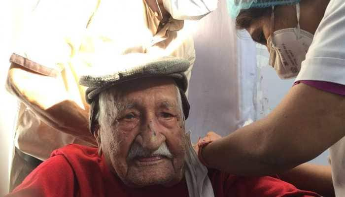 Delhi: 104-year-old man gets COVID-19 vaccine, no adverse effects reported