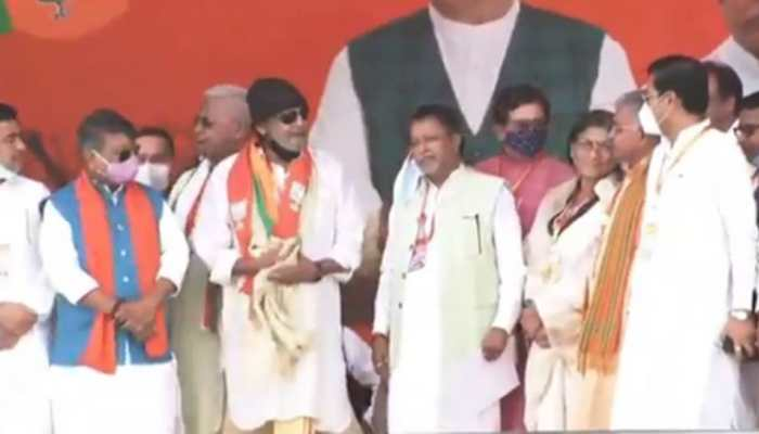 West Bengal Assembly election 2021: Actor Mithun Chakraborty joins BJP at PM Modi's rally in Kolkata