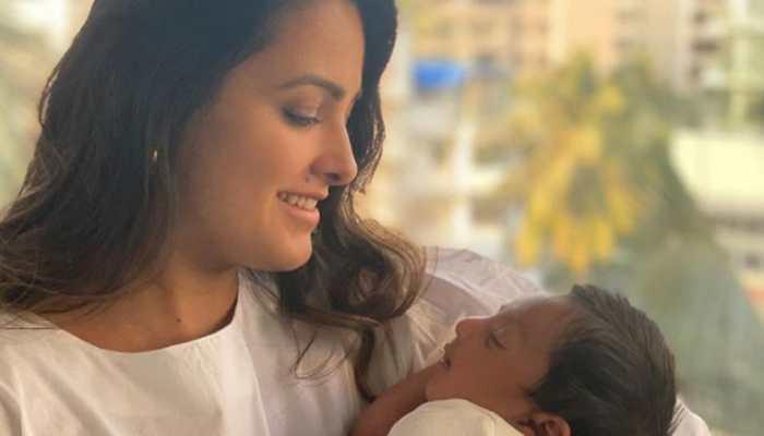 TV actress Anita Hassanandani cradles her newborn baby, shares awwdorable video - Watch