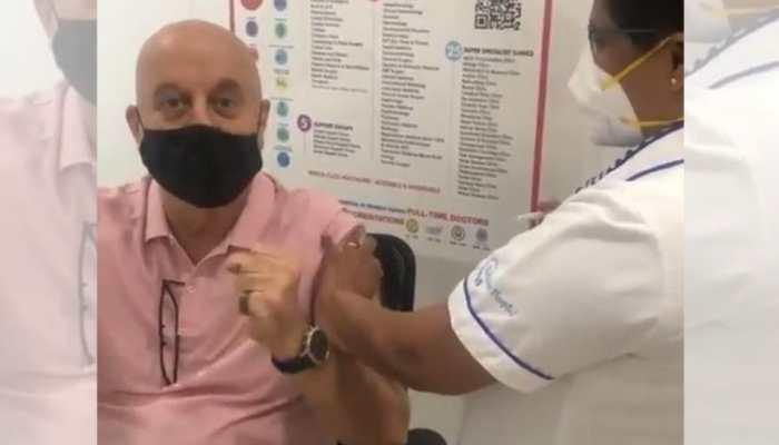 After Hema Malini, Anupam Kher gets COVID-19 vaccination