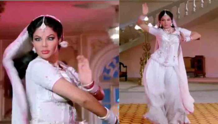 Bigg Boss 14 contestant Rakhi Sawant dons Sridevi's Naagin avatar, screentest video goes viral