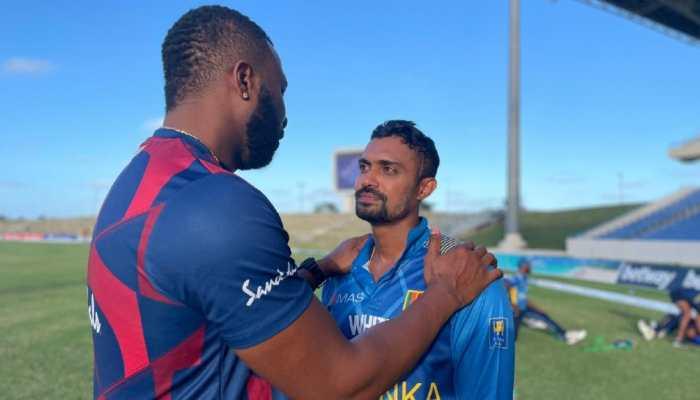 WI vs SL: First ODI turns ugly after Danushka Gunathilaka's rare dismissal, watch