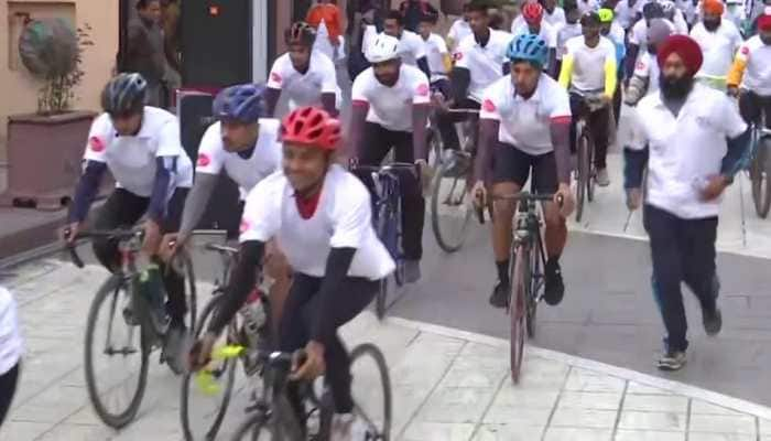 Cycle rally organised in Punjab's Amritsar to celebrate 75 years of India's Independence