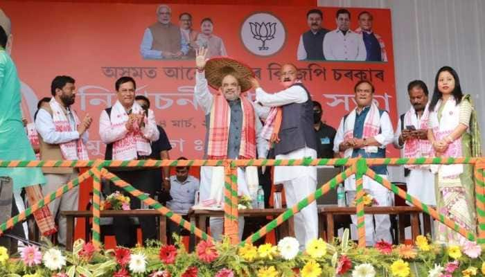 Give us another 5 years we will solve infiltration problem: Amit Shah in Assam ahead of polls