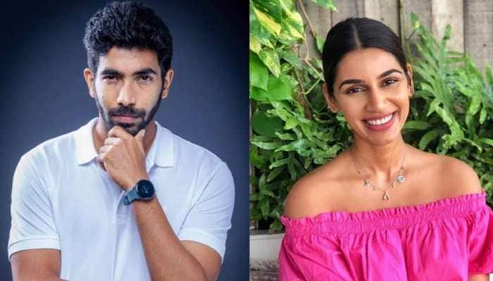 Indian paceman Jasprit Bumrah tied the knot with TV presenter and model Sanjana Ganesan in Goa on Monday (March 15). (Source: Twitter)