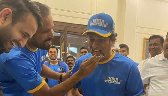 Road Safety World Series: Yuvraj Singh, India Legends celebrate 9th anniversary of Sachin Tendulkar's 100th ton, watch video