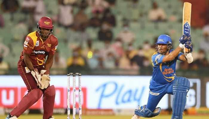 Road Safety World Series: Sachin Tendulkar's hooked six off Tino Best sends social media in a tizzy