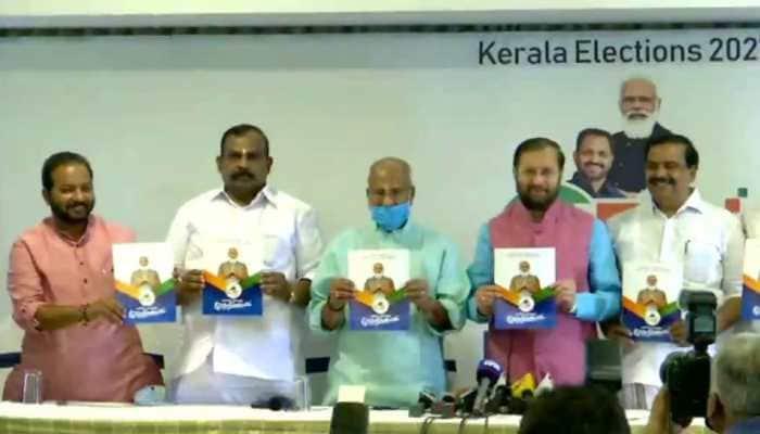 Love Jihad, Sabarimala, Jobs feature in BJP manifesto for Kerala assembly polls