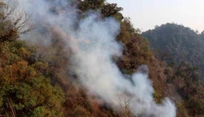 Manipur government seeks help from Centre for dousing fire at Shirui peak