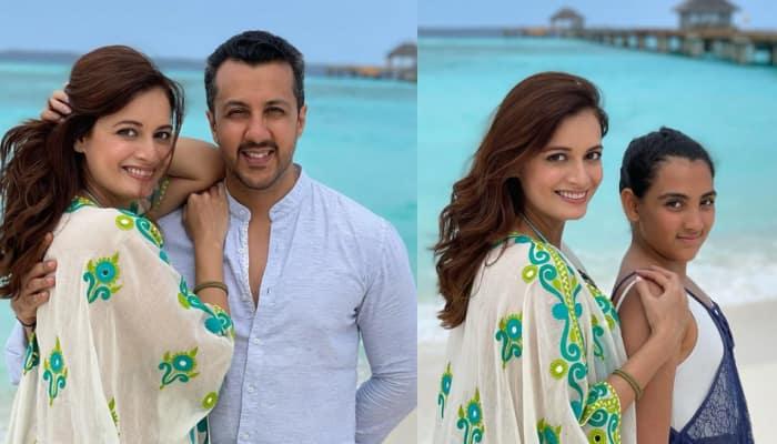 Dia Mirza shares stunning photos from Maldives with hubby Vaibhav Rekhi and step daughter Samaira