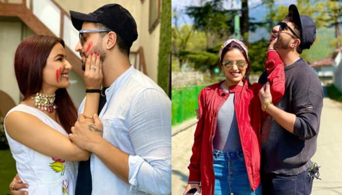 Bigg Boss 14 fame Aly Goni and Jasmin Bhasin can't get enough of each other this Holi