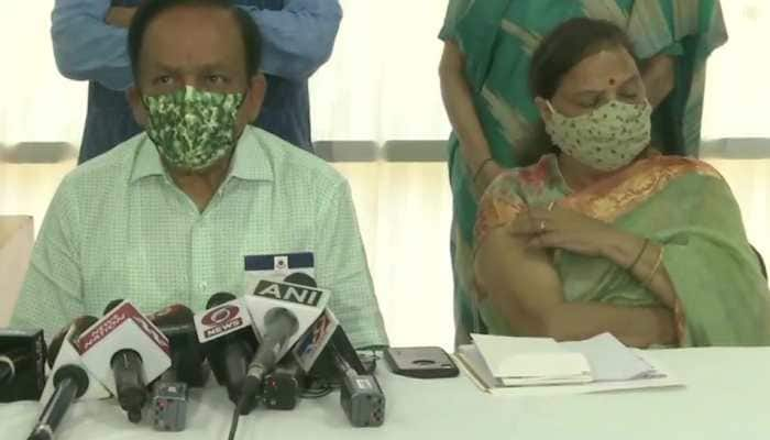 Union Health Minister Harsh Vardhan, wife take second dose of COVID-19 vaccine