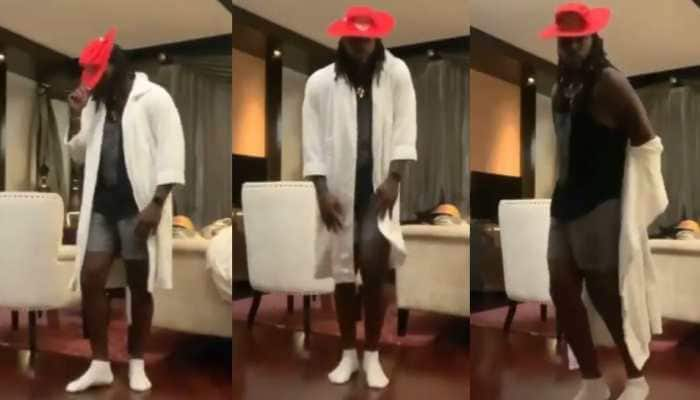 IPL 2021: Punjab Kings' Chris Gayle does 'Moon Walk' on Michael Jackson's song - WATCH