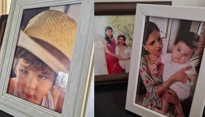 Kareena's sister-in-law Saba Pataudi shares unseen framed photos of Taimur, Inaaya!