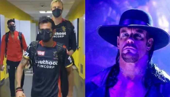 'RCB ready for WrestleMania': Yuzvendra Chahal, Kyle Jamieson imitate The Undertaker's iconic slow walk - WATCH