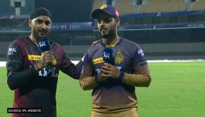 IPL 2021: KKR's Nitish Rana, Harbhajan Singh rap to 'Brown Munde' after win over SRH - WATCH