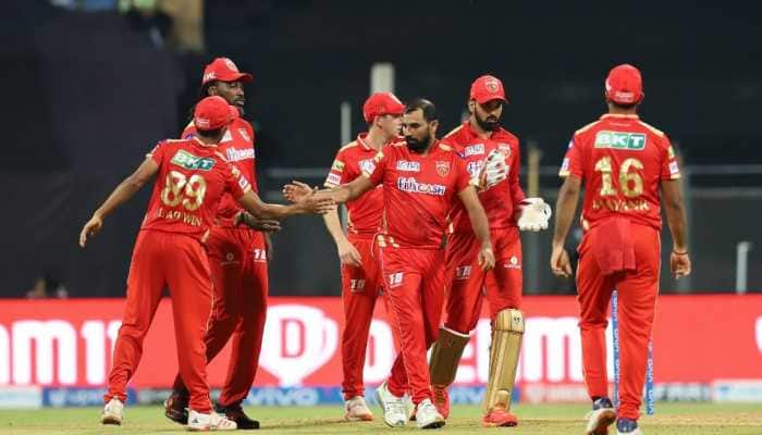 Mohammed Shami of Punjab Kings celebrates after picking up a wicket against Rajasthan Royals in their IPL 2021 clash in Mumbai. (Photo: IPL)