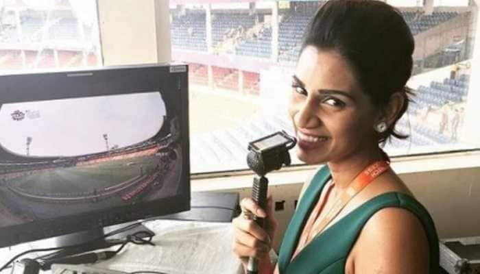 IPL 2021: Jasprit Bumrah's wife Sanjana Ganesan enjoys 'fun day at work' ahead of MI vs KKR clash, see pic