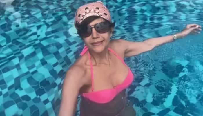 Mandira Bedi's birthday video in a hot pink bikini sets Instagram on fire - Watch